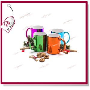 Custom Photo Printed 11oz Sublimation Metallic Plating Mug pictures & photos