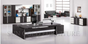 Wooden Melamine Executive Desk High Quality Office Furniture for Europe pictures & photos