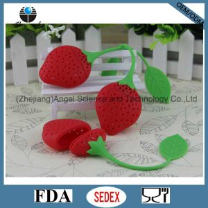 Popular Strawberry Silicone Tea Tool / Tea Strainer St03