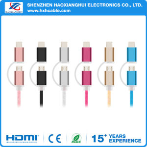 2 in 1 USB Cable with One Head Charge and Data Transfer for iPhone and Android pictures & photos