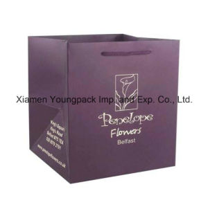 Custom Printed Luxury Matt Gift Paper Flower Bag pictures & photos