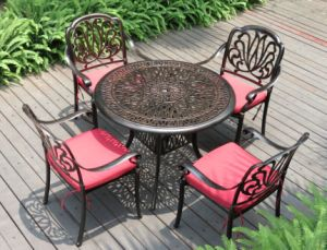 Outdoor Hotel Garden Elisabeth Cast Aluminum Brown Bar Dining Table Chair Leisure Furniture pictures & photos