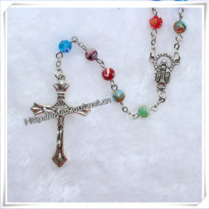 Religious Colourful Glass Beads Rosary (IO-cr205) pictures & photos