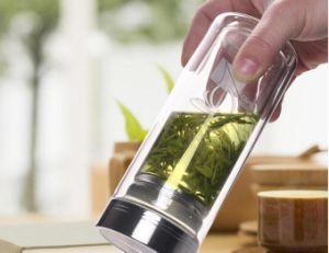 Silicon Platinum & Food Safe Plastic Lid Glass Bottle Dn-173 pictures & photos