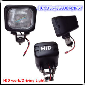 35W 4.6′′ Full Flood HID Work Light for Car Jeep Offroad SUV pictures & photos