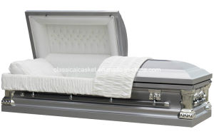 Senator Silver 18 Gage Steel Us Casket pictures & photos