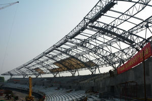 Design Membrane Steel Structure Gymnasium Stadium Canopy Roofing pictures & photos
