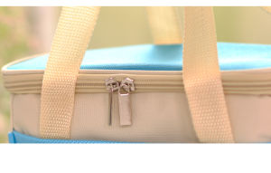 Pink Polyester Handle Cooler Bag with Zipper pictures & photos