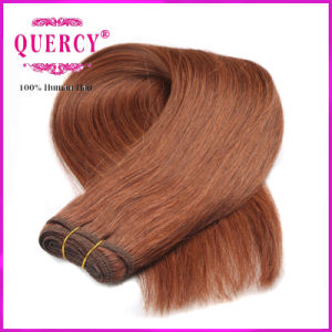 Dark Brown Hair Colored Peruvian Straight Hair Weave 100% Human Hair pictures & photos