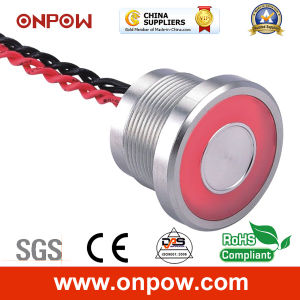 Onpow 22mm Piezoelectric Switch with Large Light (PS225P10YSS1R12L, CE, RoHS) pictures & photos
