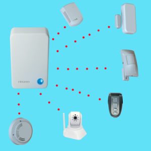 Wireless WiFi and 64G IP Camera Smart Home Alarm System