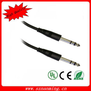 6.35mm M/M Guitar Cable Black Gold-Plated or Net-Plated pictures & photos