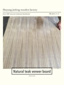 ISO 9001: 2008 Exported Natural Teak MDF/Plywood/Bb Veneer pictures & photos