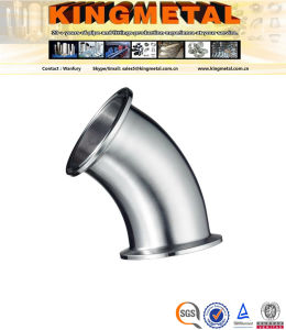 Bright Annealed 304/316 Food Grade 45 Degree 3A Weld Elbow. pictures & photos