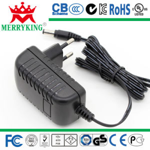 EU Plug Wall Mount 12V1a AC DC Adapter pictures & photos