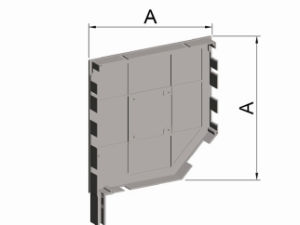Roller Shutter Accessory, 45 Degree End Cap with Large Leg pictures & photos