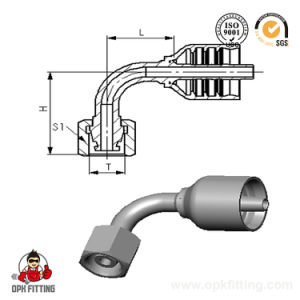 90° Metric Female 24° Cone O-Ring Integrated Hose Fitting 20491y 20492y pictures & photos