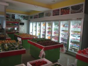 Supermarket Equipment Glass Door Display, Bottle Cooler pictures & photos