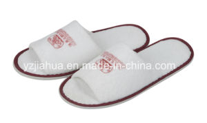 Open Toe Terry Hotel Indoor EVA Sole with Color Tipping Slipper pictures & photos