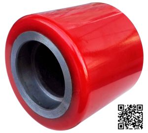 90mm Red PU Forklift Caster Wheel for Factory pictures & photos