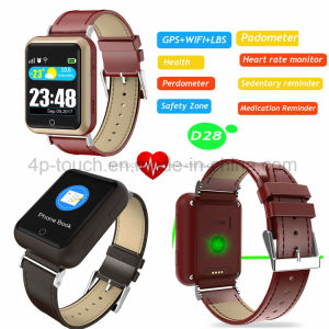 Child/Adult Portable GPS Tracker Watch with Heart Rate Monitor D28 pictures & photos