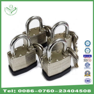 Different Size Laminated Steel Padlock with Nickel Plating (730N) pictures & photos