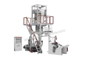 Rotary Die Double Winder Plastic LDPE Film Machine pictures & photos