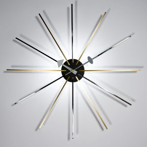 Brass Stainless Steel Arms Star Clock pictures & photos