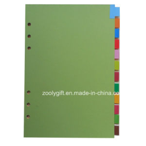 12 Tab A4 A5 Index Dividers / 12 Pages PP Index Divider, Office Stationery 6 Hole Loose-Leaf File pictures & photos