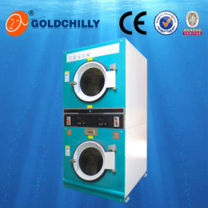 Double Commerical Laundry Steam Coin Drying Machine 12+12 Kg pictures & photos