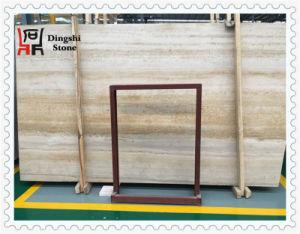 Golden/Beige Wood Vein Travertine Stone for Floor /Wall Tile pictures & photos