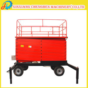 6m Auto Lift Height Electric Mobile Scissor Lift pictures & photos
