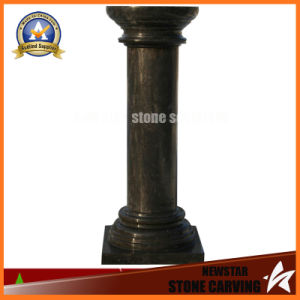 Black Marble Stone Carved Roman Column (NS-11C16) pictures & photos