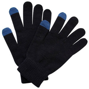 Fashion Black Acrylic Knitted Touch Screen Magic Gloves (YKY5456) pictures & photos