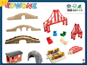 Accessories of Train Set, Wooden Toy