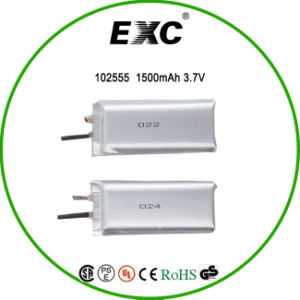 102555 China Ultra Thin Lithium Polymer Battery 3.7V 1400mAh for Laptop pictures & photos