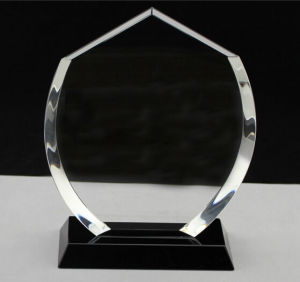 Popular Etched Glass Trophy Craft, Glass Prize Plaque Hot Selling pictures & photos