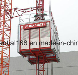 Construction Elevator Hoist with Rack and Pinion pictures & photos
