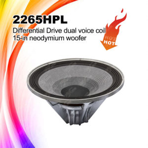 "2265HPL DJ 15"" Double Voice Coil Neodymium HiFi Woofer pictures & photos"