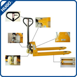 2 Ton Nylon PU Wheel Hydraulic Hand Pallet Jack Truck with Ce pictures & photos