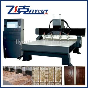 CNC Machinery with 4 Heads Spindle for Wood Carving pictures & photos