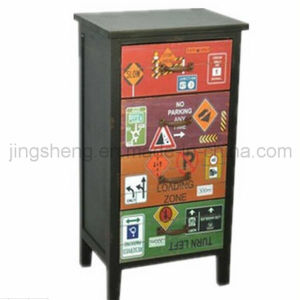 European Hot Sell Antique Wooden Cabinet for Home Decor pictures & photos