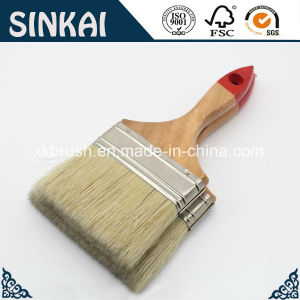 Plastic Bristle Hair Brush with Hardwood Handle pictures & photos