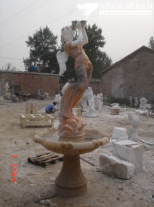 Outdoor Garden Decoration Natural Marble Hand Carved Angel Fountain pictures & photos