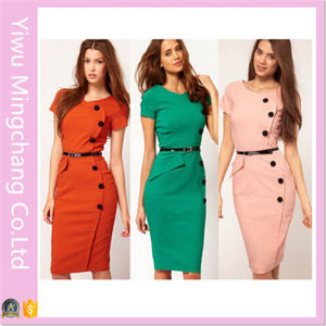 Wholesale European and American Style Button Fashion Slimming Pencil Dress pictures & photos