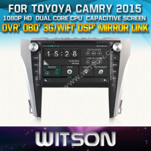 Witson Car DVD Player with GPS for Toyoya Camry 2015 (W2-D8125T) Mirror Link Touch Screen CD Copy DSP Front DVR Capactive Screen pictures & photos