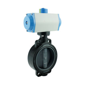 DIN ASTM JIS Pneumatic Actuated PVC Butterfly Valve pictures & photos