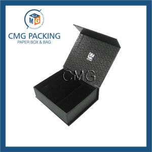 Black Luxury Cardboard Jewelry Folded Box (CMG-013) pictures & photos