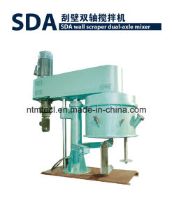 High Viscosity Paste Dual-Axle Stirrer with Wall Scraper pictures & photos