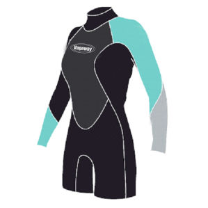 Women′s Long Sleeve and Short Pants Neoprene Suit for Surfing pictures & photos